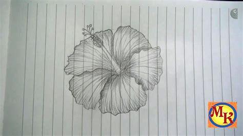 menggambar bunga kembang sepatu speed drawing youtube