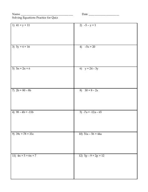 solving equations practice worksheet solving equations practice worksheet