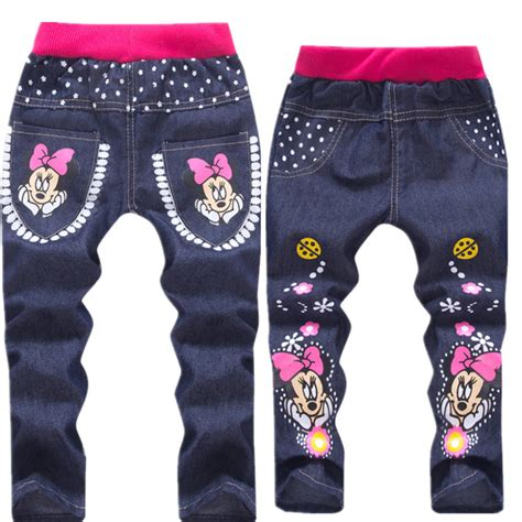 jeans with pattern baby girl clothing cartoon pattern printing clothes kids