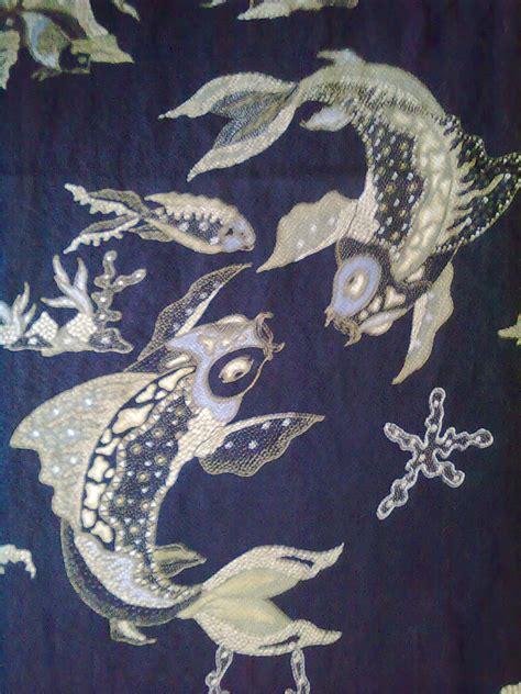 Batik Tulis Bunga Ikan B02 by Motif Ikan Batik Tulis Cirebon