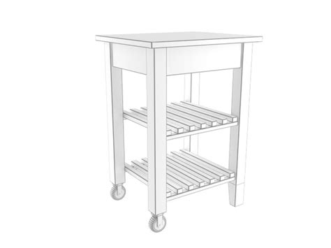 Bekvam Kitchen Cart by Cart Table 3d Model