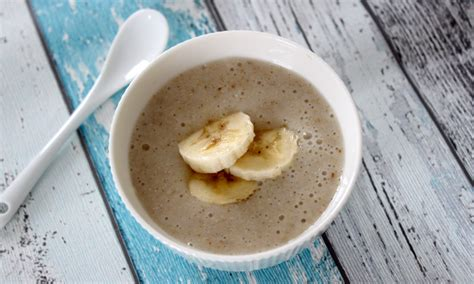 ab wann abends brei nachmittagsbrei mit banane rezept f 252 r babys ab dem 7 monat