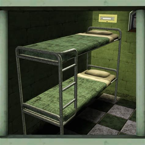 prison beds cyclonesue s prison top bunk right ladder