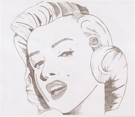marilyn monroe drawing kailancmharris 169 2018 aug 7 2012