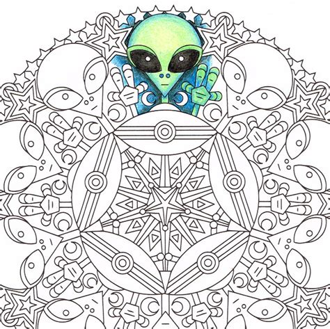 psychedelic palescale coloring book new coloring style 21 images accentuate the colors interior printed in paled color to guide you books mandala coloring page green friends printable