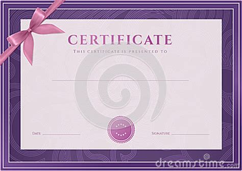 scroll certificate templates certificate diploma template award pattern stock photo