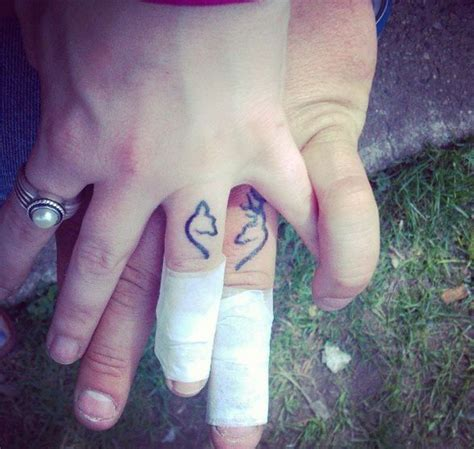 wedding band tattoos for couples 175 best couples tattoos images on ring finger