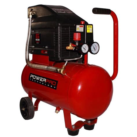 compressed air powered fans power pro technology 6 gal portable electric horizontal