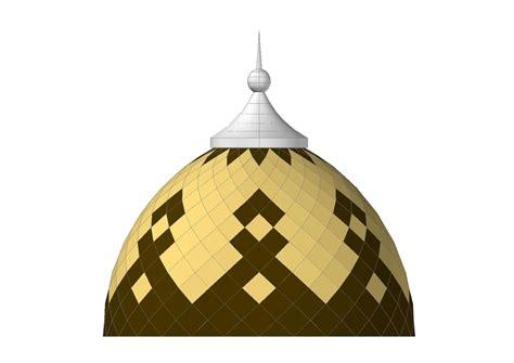 contoh gambar kubah enamel masjid panel motif warna warni ahli atap kubah masjid enamel menara