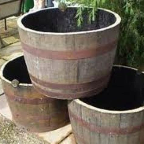 Whiskey Barrel Planters Outdoors Pinterest Whiskey Whiskey Barrel Planters