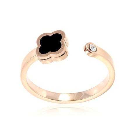 printable ring sizer walmart pure316 women s rose gold plated fancy clover cz ring