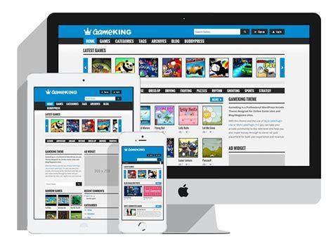 Gameking Responsive Wordpress Arcade Theme Armorthemes Arcade Website Template