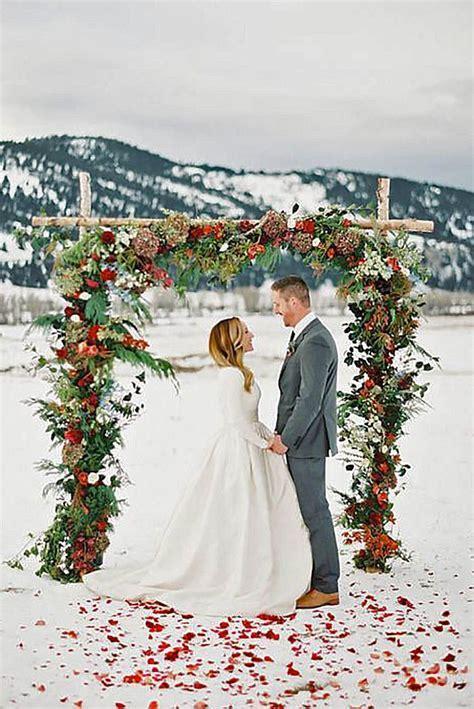51 Charming Winter Wedding Decorations   Winter Weddings