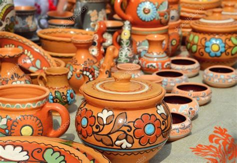 Handmade Clay Pots - lots of handmade clay pots stock photo 169 mariakarabella