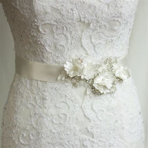 bridal sash wedding dress belt rhinestone sash bridal