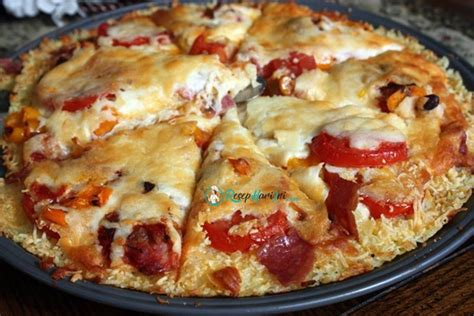 membuat pizza di wajan cara membuat pizza nasi keju sosis rice crust pizza