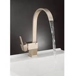 Modern Faucet Kitchen Contemporary Brass Kitchen Faucet Nickel Brushed Finish Faucetsuperdeal