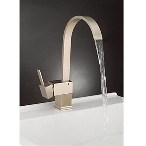 Kitchen Faucets Contemporary | contemporary brass kitchen faucet nickel brushed finish