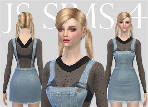 sims 4 overall shorts denim overall skirt set at js sims 4 187 sims 4 updates