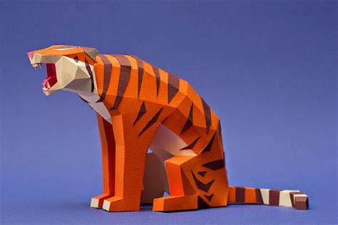 Papercraft Animals - papercraft animal figurines fubiz media
