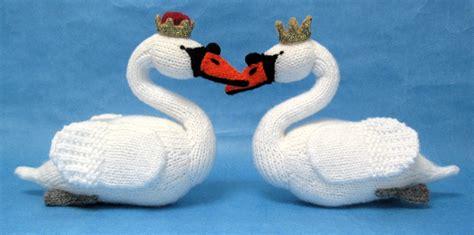swan knitting pattern swan sweethearts alan dart alan dart