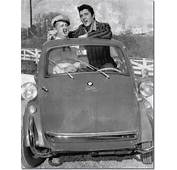Colonel Parker And Elvis Presley In The Bmw Isetta Home