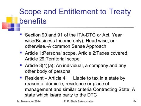 section 90 of income tax act navi mumbai study circle dtaa presentation 01 11 2014