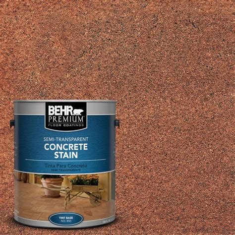 rust oleum concrete stain 1 gal interior exterior semi transparent stain of 2