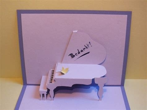 Grand Piano Pop Up Card Free Template by Piano Pop Up Card 183 How To Make A Pop Up Card 183 Papercraft