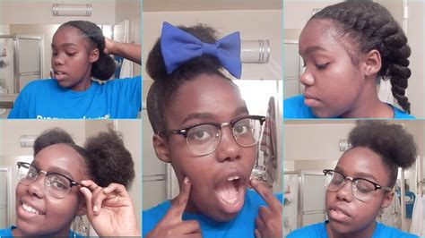 5 back to school hairstyles for natural hair 5 back to school hairstyles for natural hair youtube