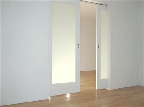Interior Pocket Doors With Glass Inserts Frosted Glass Pocket Doors For Your House Seeur