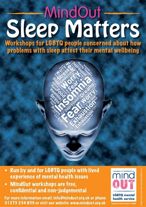 sleep matters poster mindout