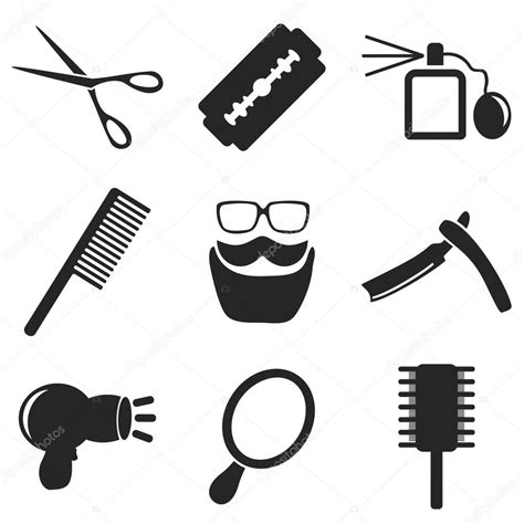 clipart cellulare barber web and mobile icons collections vector stock