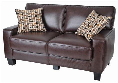 dark brown leather loveseat brown leather couch