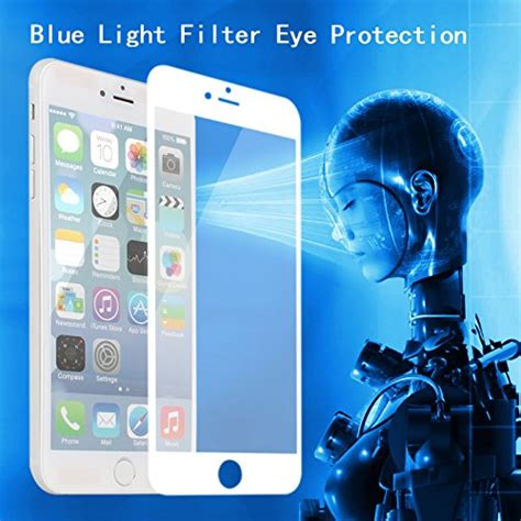 blue light filter iphone vomach 0 18mm round edge 9h hardness tempered glass screen