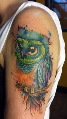 watercolor tattoo israel steunk owl sketch ideas
