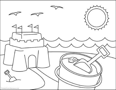 summer season print coloring page free printables