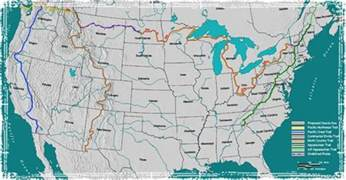 map of us distance trails major u s hiking trails top hikes in the united
