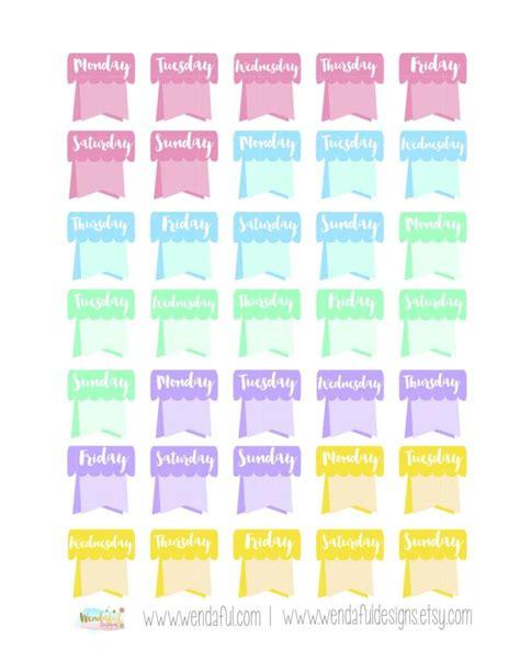 printable stickers erin condren free weekday flags stickers for erin condren planners