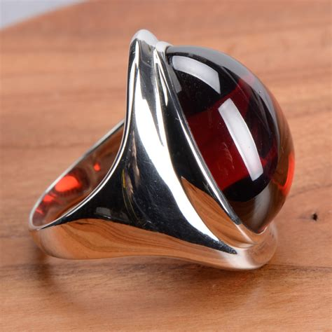 925 sterling silver ruby index finger rings