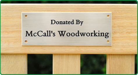 Memorial Bench Mccall S Woodworking Furniture