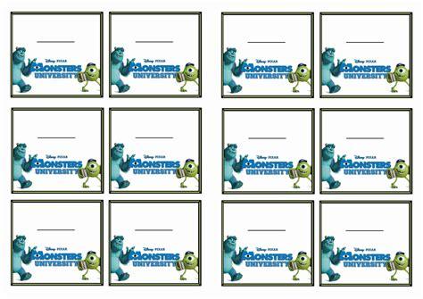 printable monster name tags monsters university name tags birthday printable