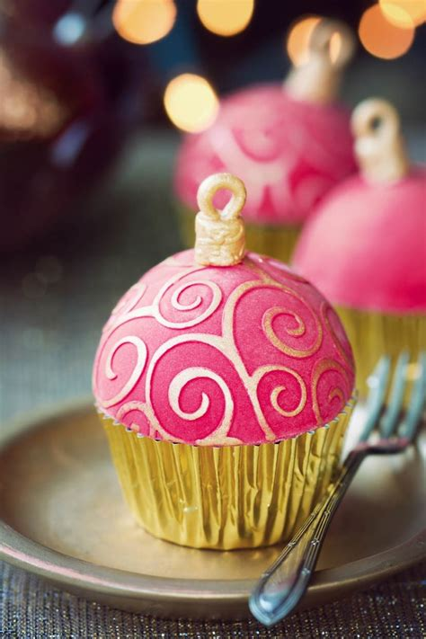 ornament cupcakes tutorial christmas pinterest
