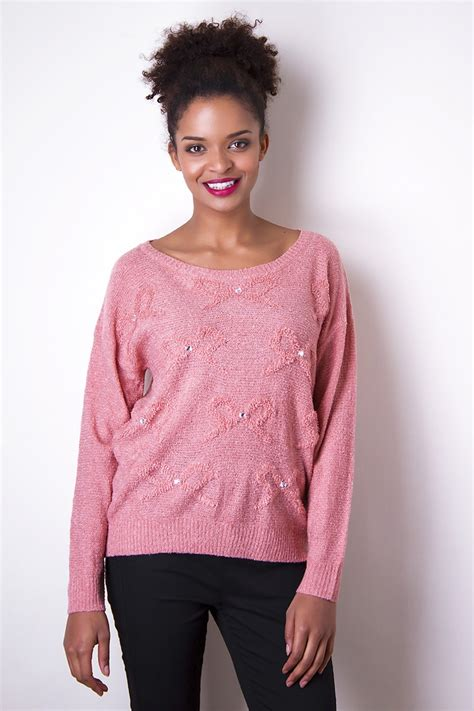 Bow Sweater pink bow sweater sweater
