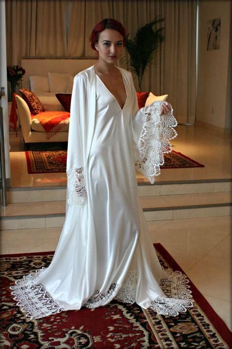 Damenschuhe Hochzeit by Satin Bridal Robe Wedding Trousseau Sleepwear Venise Lace