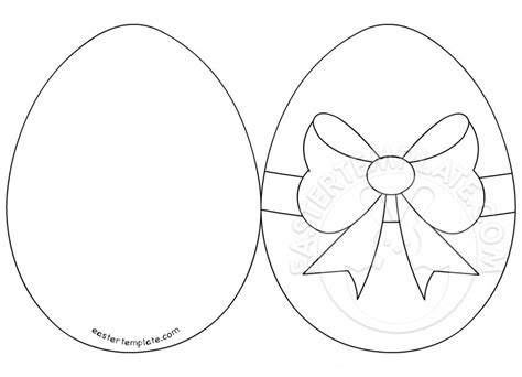 easter egg template easter egg card template coloring pages
