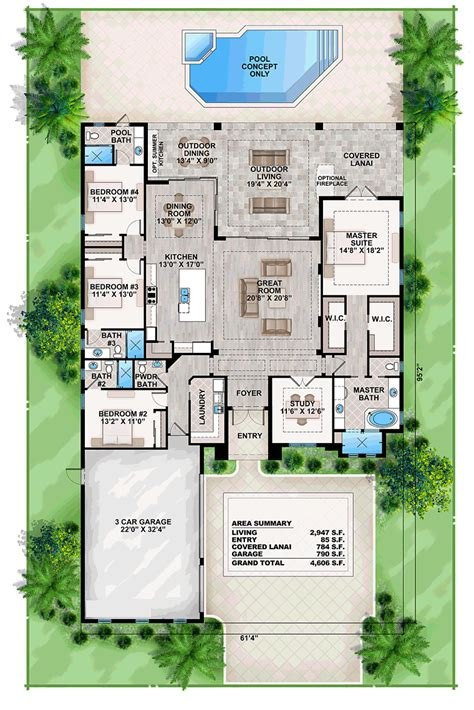 coastal home floor plans house plan 52911 order code pt101 at familyhomeplans