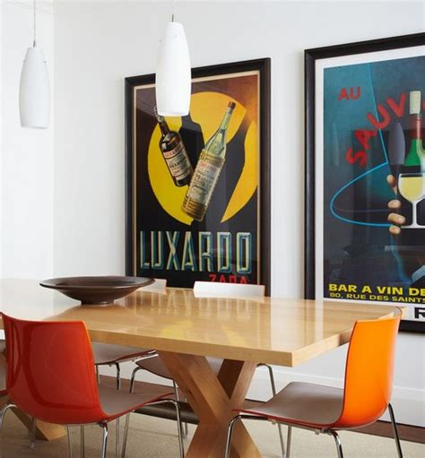 modern wall posters vintage posters to decorate modern interiors