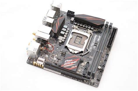 asus z170i pro gaming lga 1151 motherboard review eteknix