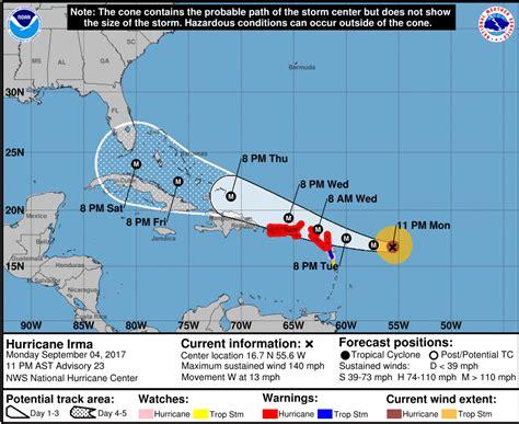 hurricane irma landfall hurricane irma category 4 where will it hit us landfall